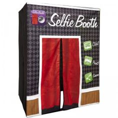 This Selfie Booth works with your tablet or smart phone and a green screen to turn your boring selfies into a fun photo booth experience.