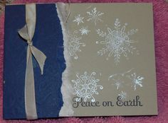 like the torn paper and the ribbon, use idea for any type of card