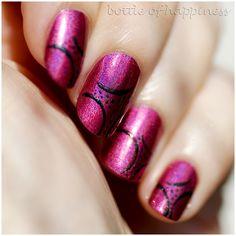 China Glaze Infra Red - nail design