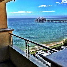 View from a Pier View guest room. #MalibuBeachInn #MalibuPier #Malibu #hotel #luxury #travel #ocean #balcony