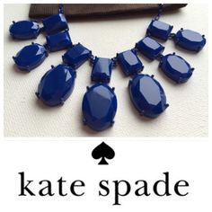 """Kate Spade Painted Jewels Necklace Navy jewel necklace from kate spade new york. Adjustable from 16-18"""". New with tags & gift pouch! kate spade Jewelry Necklaces"""