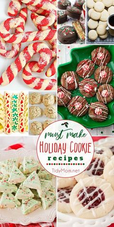 Looking for some quick to prepare and easy to bake Christmas cookies that look gorgeous and taste delicious? These must make Holiday Cookie Recipeswill easily be the star of the cookie exchange! Get all the recipes at TidyMom.net