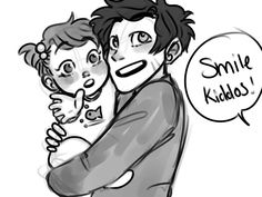 solbabydraws: Sally loves taking pictures of her little goobers. Her kids are happy to oblige.