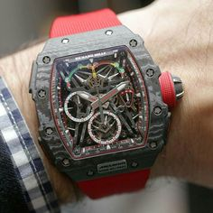 """Setting world records and telling you all about it in our """"Hands-on"""" article covering the Richard Mille RM 50-03 McLaren F1 Lightweight - only 40 gramms making it the lightest split-second chronograph with a tourbillon in the world. Cost for this beast $1,000,000.-   Read about it here: http://www.ablogtowatch.com/richard-mille-rm-50-03-mclaren-f1-watch/"""