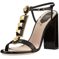 Fendi Gold Edition Studded Pump