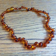 For Julia: Baby Baltic Amber Teething Necklace - Baroque by Baltic Amber Teething Necklaces at BabyEarth.com, $17.95