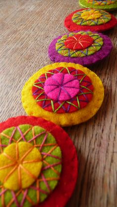 felt circles#Repin By:Pinterest++ for iPad#
