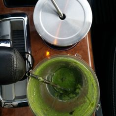 Heading to my next client! They're new to Kate's Plate. I LOVE helping make healthy happen for our clients. Gulping down a KP Green Power Smoothie and a water en route. Good stuff! #greensmoothie #energyboost #lovenewclients #happy