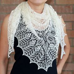 Ravelry: Crinoline Lace Shawl pattern by Alina Appasov Lace Knitting, Knit Crochet, Knitting Patterns, Knitting Ideas, Knit Lace, Scarf Patterns, Knitting Projects, Hand Knit Scarf, Knitted Shawls