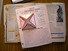 French Indian War Notebook - we are doing folders for each era next year and this has some good ideas that can be modified for any era.