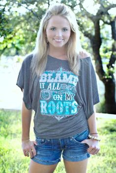 SOMEONE BUY ME THIS.  anything with lyrics from a garth brooks song belongs in my closet....i blame it all on my roots, i showed up in boots, and ruined your black tie affair...