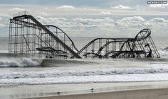 Roller coaster in New Jersey post-hurricane - MemePix