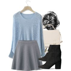Allison Inspired Business Casual Outfit by veterization on Polyvore featuring Chicwish, Uniqlo, H&M and Madden Girl
