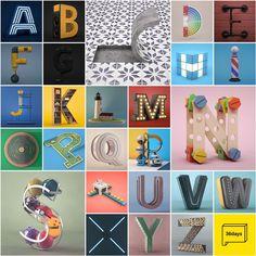 Sèrie final de lletres per el meravellós projecte #36daysoftype . L'any que ve no falto!  Gran trabajo @36daysoftype. Enhorabuena! / The A to Z series for #36daysoftype03 project.  #c4d #3d #cinema4d #typography #tipo #type #design #dissenygràfic by camilobelmonte