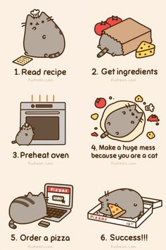 How To Make Pizza…I don't know why step 4 makes me laugh...but i love it