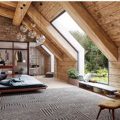 Home Interior Design 19 Dreamy Attic Loft Bedroom Decoration Ideas.Home Interior Design 19 Dreamy Attic Loft Bedroom Decoration Ideas Attic Loft, Bedroom Loft, Attic House, Dream Bedroom, Attic Bedrooms, Loft House, Cozy Bedroom, Attic Master Bedroom, Bedroom Windows