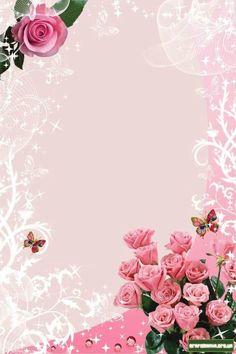 """Invitations"": ""For the special day of. Flower Backgrounds, Flower Wallpaper, Photo Wallpaper, Wallpaper Backgrounds, Flower Frame, Flower Boxes, Picture Borders, Page Borders Design, Photo Frame Design"