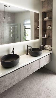 Bathroom Design Luxury, Modern Bathroom Design, Interior Design Kitchen, Washroom Design, Bad Inspiration, Bathroom Design Inspiration, Home Room Design, Bathroom Ideas, Small Bathroom