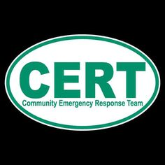 CERT Community Emergency Response Team Non Reflective Oval Decal  | eBay