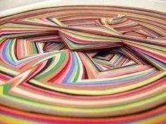 Paper art by Jen Stark