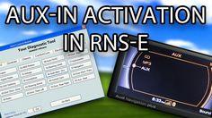 How to enable AUX-IN in #Audi RNS-E (A3 A4 A6 TT R8 Exeo Gallardo) VAG-COM VCDS VAS