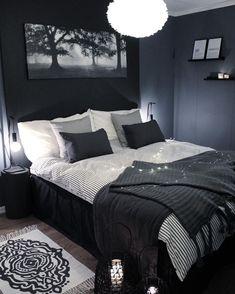 Blue and Black Bedroom. Blue and Black Bedroom. Navy Blue Black Bedroom Ideas Home Delightful Homes Decor Bedroom Inspo, Home Decor Bedroom, Bedroom Ideas, Bedroom Furniture, Dark Home Decor, Furniture Plans, Bedroom Inspiration, Bedroom Apartment, Black Bed Room Ideas