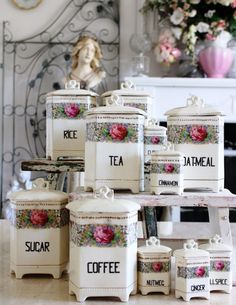 enchanted-barnowlkloof: Beautiful canisters