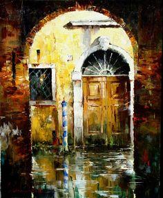 Russian artist Gleb Goloubetski | Venice 78x63 2005