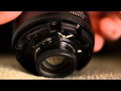 Modified NIkon 50 1 8 lens for freelensing