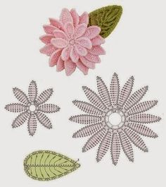 Ivelise Feito à Mão: Flores Em Crochê!