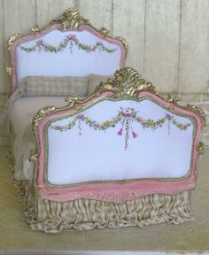 """""""I Love Pink Collection"""" Hand painted silks and miniatures by Maritza Miniatures www.maritzaminiatures.com"""