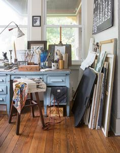 Art Studio | My Sister's Art-Filled, Eclectic Home - Chris Loves Julia