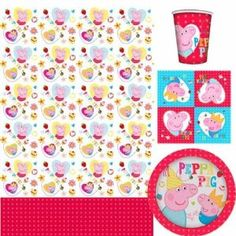 Peppa Pig Party Time Party Tableware Pack for 8: Amazon.co.uk: Toys & Games