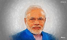 Narendra Modi Indian PM Hd Wallpaper With Blurred Effect
