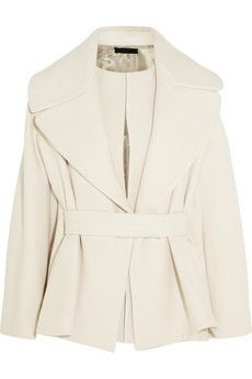 The Row Laira wool-blend coat. Fasten the partially concealed belt to fully emphasize the elegant silhouette    NET-A-PORTER