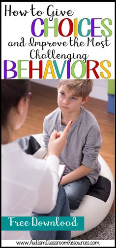 Got a student who drags people into power struggles? Giving the student choices can help reduce those behaviors. Check out some ways to make it work. (How to give choices and improve even the most challenging behaviors) Classroom Behavior, Autism Classroom, Kids Behavior, Classroom Management, Preschool Behavior Management, Behavior Plans, Behavior Charts, Classroom Resources, Behaviour Management Strategies