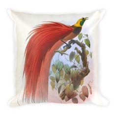 Square Printed Cushion - Bird of Paradise