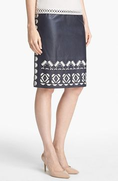 brianna leather skirt / tory burch