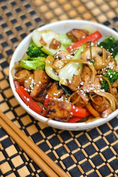 Jason's Famous Stir Fry-make with chicken and could make with Konjac noodles