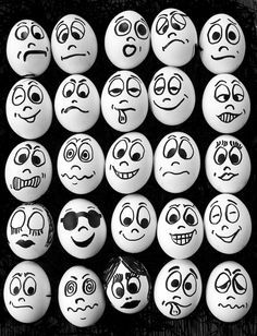 Photo Picture of White eggs and many funny faces stock photo, images and stock photography. Image of White eggs and many funny faces stock photo, images and stock photography. Pebble Painting, Pebble Art, Stone Painting, Stone Crafts, Rock Crafts, Rock Painting Designs, Paint Designs, Art D'oeuf, Funny Eggs