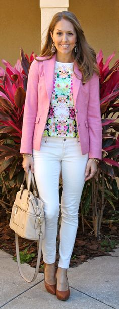 "Babble post from J's everyday Fashions ""From My Closet: 12 Easter Outfit Ideas"" love the shirt Spring Summer Fashion, Spring Outfits, Fall Fashion, Fashion Tips, Fashion Trends, Js Everyday Fashion, Look Rose, Business Casual Outfits, Business Style"