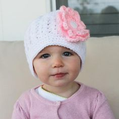 9870e6cbf04 Angel Baby Girl Hat Your little angel will look so ANGELIC in this  beautiful baby hat from Melondipity! We love the simpl…