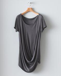 Image of Drape Detail T-Shirt
