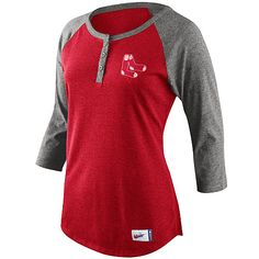 Boston Red Sox Women's Cooperstown 3/4 Sleeve Raglan T-Shirt by Nike - MLB.com Shop