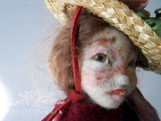 "needle felted art doll by FELTOOHLALA-""Tea"""