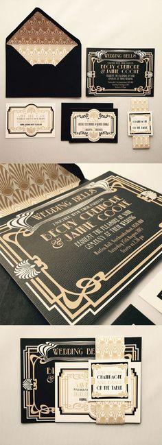 Wedding invite: retro chique
