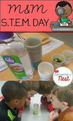 New science activity for kids using STEM (Science Technology Engineering and Math education)- science activity for elementary students that requires students to explore how different liquids affect M&M's