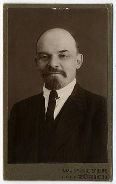 Vladimir Ilyich Ulyanov Lenin in Zurich,  Switzerland,1916.  Photographer Wilhelm Pleyer -Getty Images