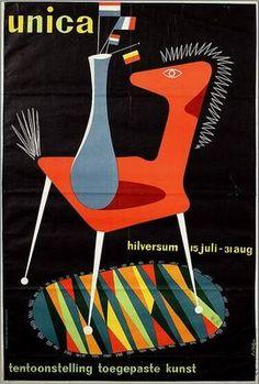 Unica. Tentoonstelling toegespaste kunst. By Cor van Velsen, 1950 - 54.