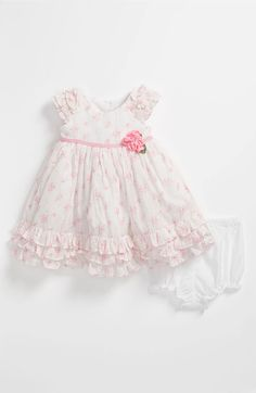 Main Image - Laura Ashley Wallpaper Print Dress & Bloomers (Infant)